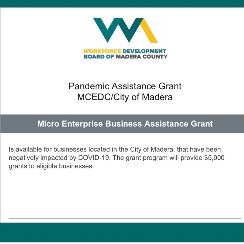 Madera Pandemic Assistance Grant Application is Open