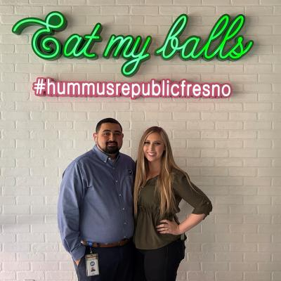 Hummus Republic Owners Steven and Chloe